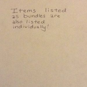 Other - Items listed as bundles also listed individually!